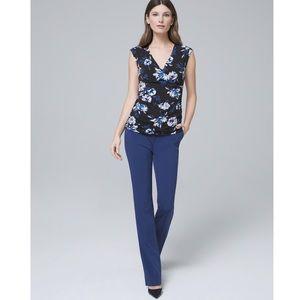 White House Black Market Essential Slim Pants Blue